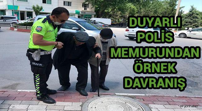 DUYARLI POLİS MEMURUNDAN ÖRNEK DAVRANIŞ