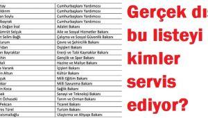 GERÇEK DIŞI BU LİSTEYİ KİMLER SERVİS ETTİ?..