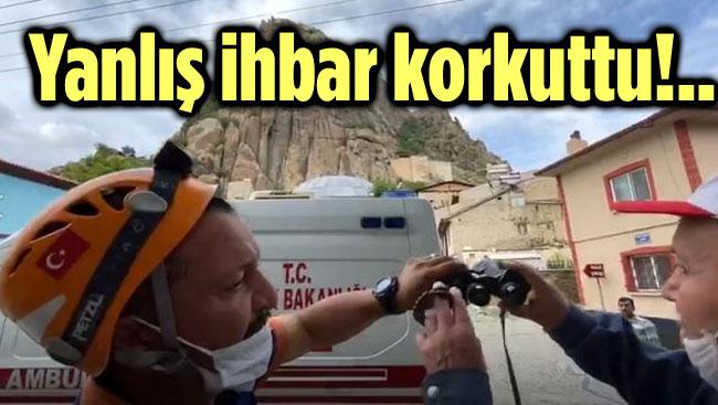 'İNTİHAR' İHBARI EKİPLERİ HAREKETE GEÇİRDİ