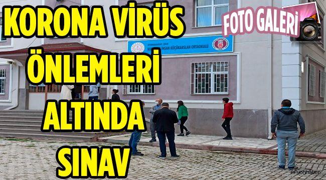 KORONA VİRÜS ÖNLEMLERİ ALTINDA SINAV