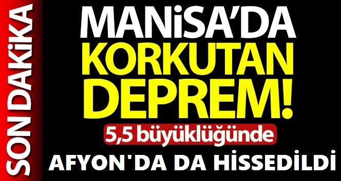 MANİSA MERKEZLİ DEPREM AFYON'DA DA HİSSEDİLDİ!..