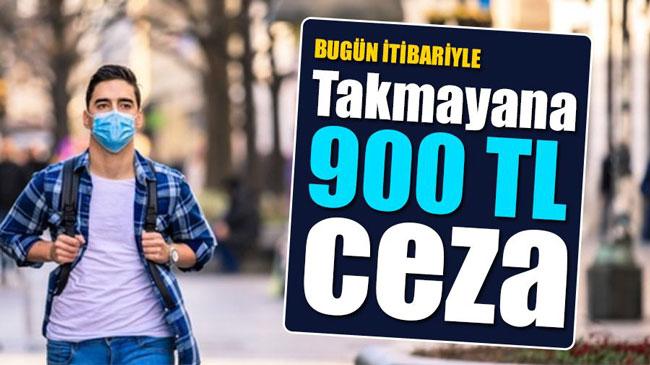 MASKE TAKMAYANA 900 TL CEZA UYGULAMASI BAŞLADI