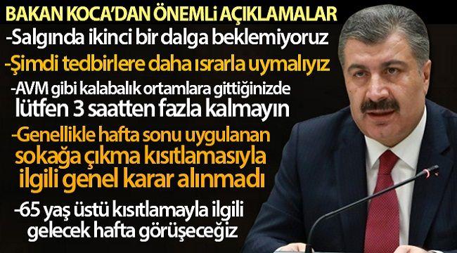 SAĞLIK BAKANI FAHRETTİN KOCA'DAN ÖNEMLİ AÇIKLAMALAR!