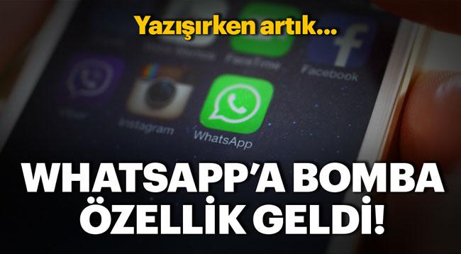 WHATSAPP'A MÜTHİŞ BİR ÖZELLİK DAHA...
