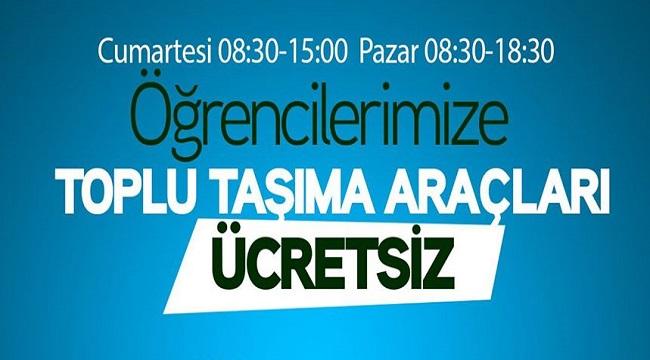 YKS ÖĞRENCİLERİNE ÜCRETSİZ ULAŞIM!..