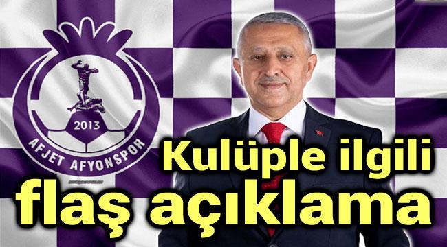 AFJET AFYONSPOR'LA İLGİLİ FLAŞ AÇIKLAMA!..