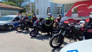 AFYONKARAHİSAR POLİSİNE 4 YENİ MOTOSİKLET