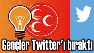 AK PARTİLİ VE MHP'Lİ GENÇLER TWITTER'I BIRAKTI