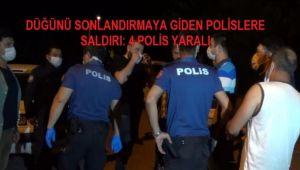 ALKOLLÜ GRUP POLİSLERE SANDALYE VE MASALARLA SALDIRDI
