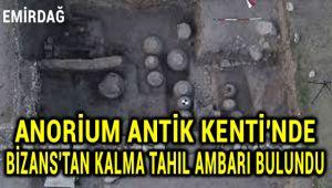 AMORİUM ANTİK KENTİ'NDE BİZANSLILAR'DAN KALMA TAHIL AMBARI BULUNDU