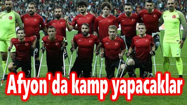 AMPUTE FUTBOL MİLLİ TAKIMI AFYON'DA KAMP YAPACAK