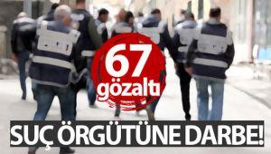 ARKADAŞLIK SİTELERİ ÜZERİNDEN DOLANDIRICILIK YAPAN SUÇ ÖRGÜTÜNE OPERASYON: 67 GÖZALTI