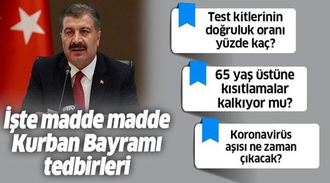 BAKAN KOCA'DAN ÖNEMLİ AÇIKLAMALAR!..