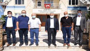 BAŞKAN ZEYBEK, DEMMER'İ ZİYARET ETTİ