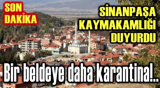 BİR BELDEYE DAHA KARANTİNA TEDBİRİ!..