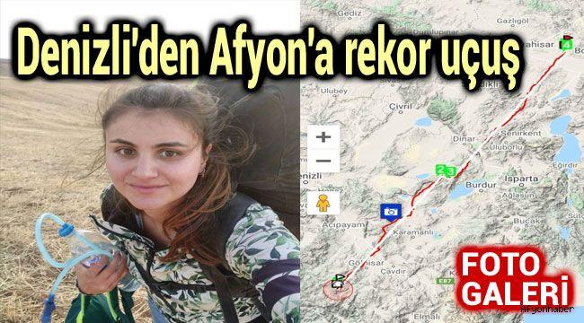 DENİZLİ'DEN AFYON'A REKOR UÇUŞ