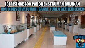 İÇERİSİNDE 400 PARÇA ENSTRÜMAN BULUNAN AKÜ KONSERVATUVARI SANAL TURLA GEZİLEBİLECEK