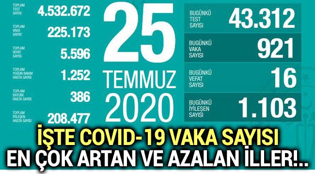 İŞTE COVID-19 VAKA SAYISI EN ÇOK ARTAN VE AZALAN İLLER!..
