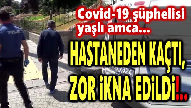 """KORONA ŞÜPHELİSİ """"POLİS CEZA YAZACAK"""" SÖZÜNÜ DUYUNCA AMBULANSA BÖYLE BİNDİ"""