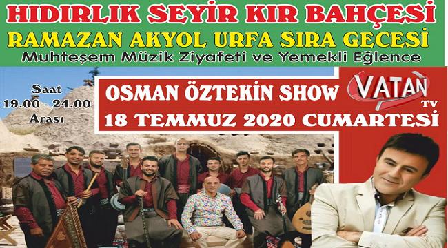 URFA SIRA GECELERİ AFYON'A GELİYOR!..