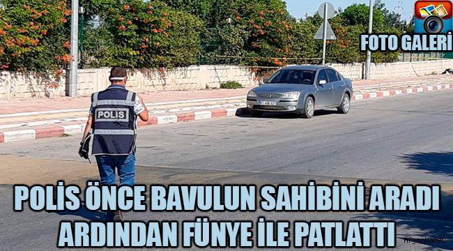 POLİS ÖNCE BAVULUN SAHİBİNİ ARADI ARDINDAN FÜNYE İLE PATLATTI