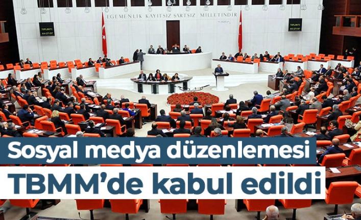 SOSYAL MEDYA DÜZENLEMESİ TBMM'DE KABUL EDİLDİ