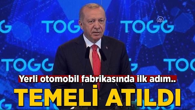 TOGG OTOMOBİL FABRİKASININ TEMELİ ATILDI