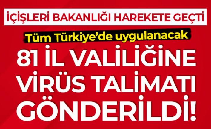 TÜRKİYE GENELİNDE COVID-19 DENETİMİ YAPILACAK!..