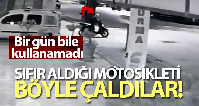 YENİ ALDIĞI MOTOSİKLETE BİR GÜN DAHİ BİNEMEDİ!..