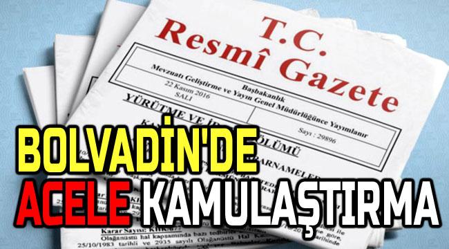 BOLVADİN'DE ACELE KAMULAŞTIRMA KARARI RESMİ GAZETE'DE YAYINLANDI