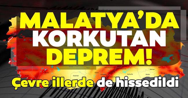 MALATYA'DA 5.2 ŞİDDETİNDE DEPREM