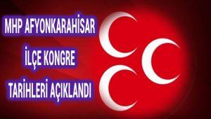 MHP AFYONKARAHİSAR İLÇE KONGRELERİ 25 AĞUSTOS'TA BAŞLAYACAK