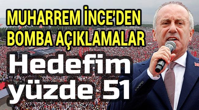 MUHARREM İNCE'DEN BOMBA AÇIKLAMALAR!..