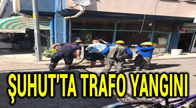ŞUHUT'TA TRAFO YANGINI