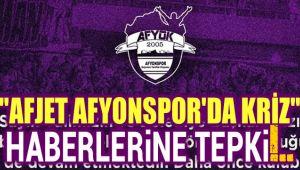 AF-YOK GRUBUNDAN AFJET AFYONSPOR'DA KRİZ HABERLERİNE TEPKİ!..
