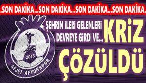 AFJET AFYONSPOR'DA KRİZ ÇÖZÜLDÜ!..