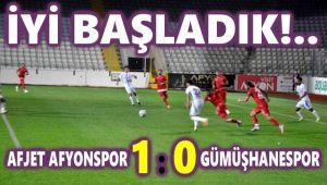 AFJET AFYONSPOR, LİGE GALİBİYETLE BAŞLADI:1-0