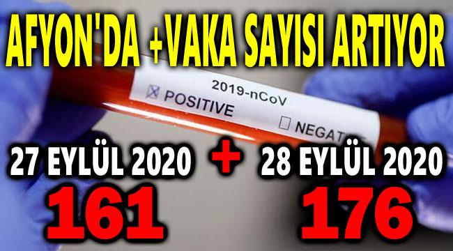 AFYON'DA COVID-19 VAKA SAYISINDA ARTIŞ SÜRÜYOR