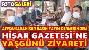 AFYONKARAHİSAR BASIN YAYIN DERNEĞİNDEN HİSAR GAZETESİ'NE YAŞGÜNÜ ZİYARETİ!..
