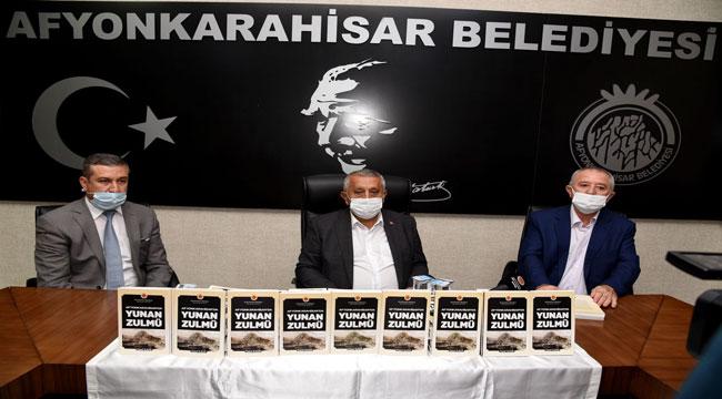 """""""AFYONKARAHİSAR'DA YUNAN ZULMÜ"""" KİTABI TANITILDI"""