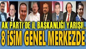 AK PARTİ, PARTİ İÇİ TEMAYÜLDE 8 İSİM BELİRLENDİ!..