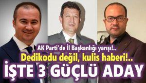 DEDİKODU DEĞİL KULİS!.. İŞTE AK PARTİ'DE KONUŞULAN 3 İSİM!..