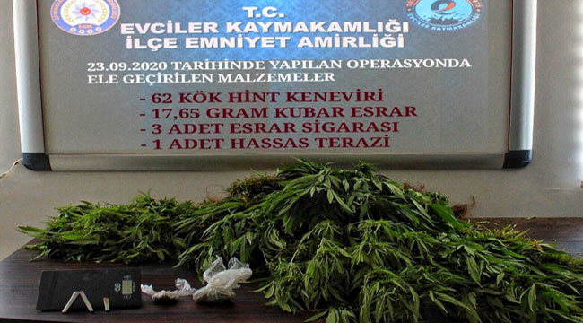 EVCİLER'DE UYUŞTURUCU OPERASYONU!..