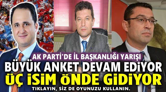 İŞTE AK PARTİ İL BAŞKANLIĞI İÇİN HALKIN TEMAYÜLÜ ANKETİ!..