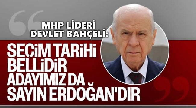SEÇİM ZAMANINDA YAPILACAK, BİZİM ADAYIMIZ BELLİ!..