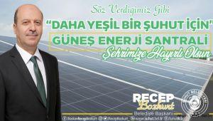 ŞUHUT'A 1 MW'LİK GÜNEŞ ENERJİ SANTRALİ