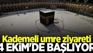 UMRE ZİYARETLERİ 4 EKİM'DE BAŞLIYOR!..