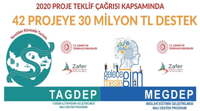ZAFER'DEN 2020 PROJE TEKLİF ÇAĞRISI KAPSAMINDA 42 PROJEYE 30 MİLYON TL DESTEK