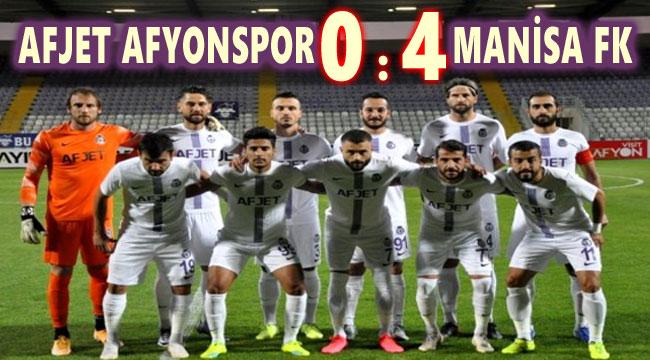 AFJET AFYONSPOR, MANİSA FK'YE 4-0 MAĞLUP OLDU