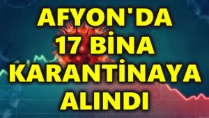 AFYON'DA 17 BİNA KARANTİNAYA ALINDI